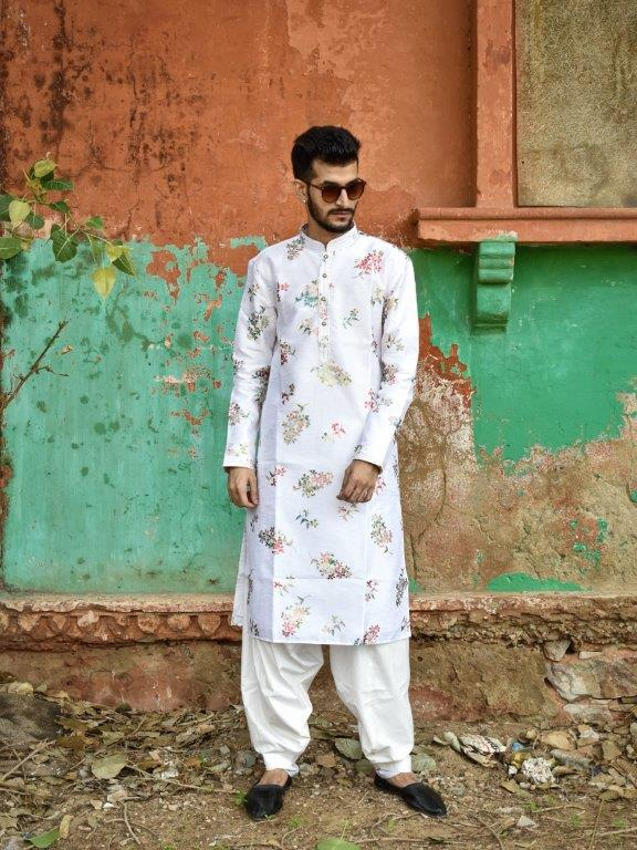 Pure White Kurta Set