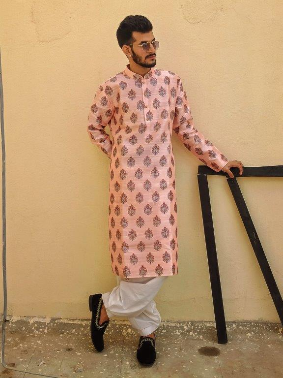Powder Pink Kurta Set